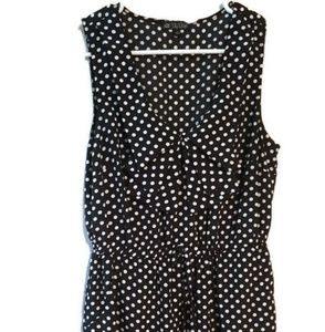 Adorable polka-dot knee length dress